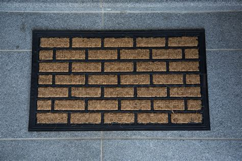 Coir And Rubber Doormat - doormat 35x60 cm coir brick entrance outdoor heavy duty
