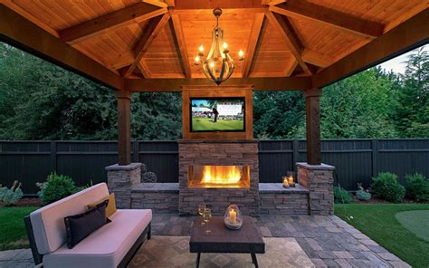 gazebo tv beautiful gazebo with fireplace ideas both with tv unit