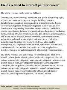 Aircraft Painter Cover Letter by Top 8 Aircraft Painter Resume Sles