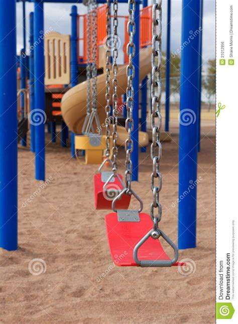 swing lifesytle school or park playground equipment with swings royalty