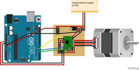 arduino code drv8825 project dc motor speed and direction control using arduino
