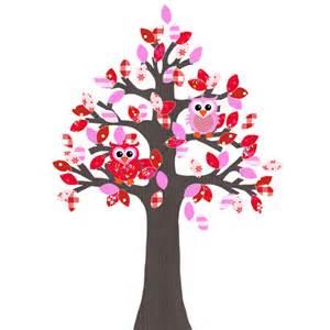 len kinderzimmer studio poppy eulen tapetenbaum braun rot pink 240cm bei