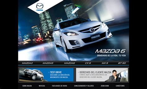 mazda website website mazda on behance