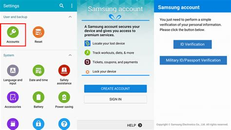 samsung mobile account set up android smartphone as you wish