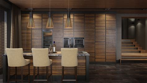 luxury home decor combined  wooden  brick wall