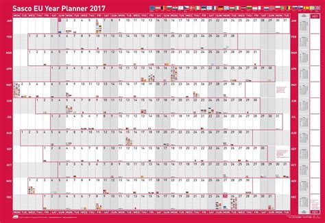 custom 2016 2017 2018 2019 1 year planner a5 or personal sasco board wall mount year planner academic staff