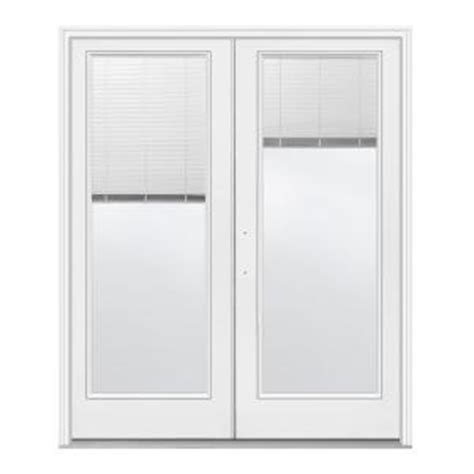 jeld wen 60 in x 80 in white right inswing steel