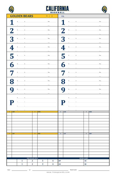 dugout lineup card template custom college baseball dugout cards charts with college