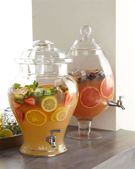 Dispenser Fruit cheers to these chic clear drink dispensers kitchen