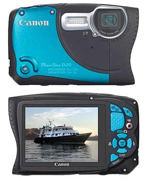 Kamera Underwater Canon D20 scuba diver info canon powershot d20