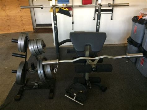 olympic weight set bench used olympic weight set for sale classifieds