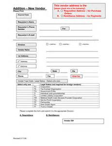 vendor information sheet template best photos of new vendor request form template vendor