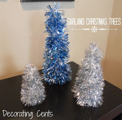 decorating cents garland christmas trees