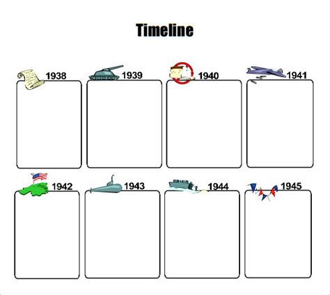 9 timeline templates for kids sles exles format
