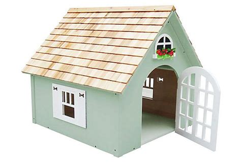 green dog house victorian dog house green