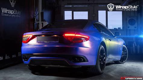 Blue Maserati by Polar Blue Maserati Granturismo By Wrapstyle