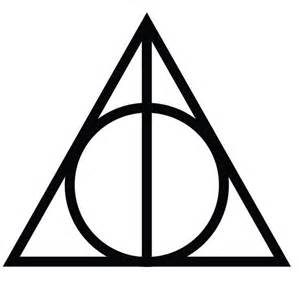 Wall Stickers For Nurseries deathly hallows symbol vinyl wall art decal for homes