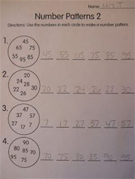 writing pattern rules writing rules number pattern grade 3 pinterest