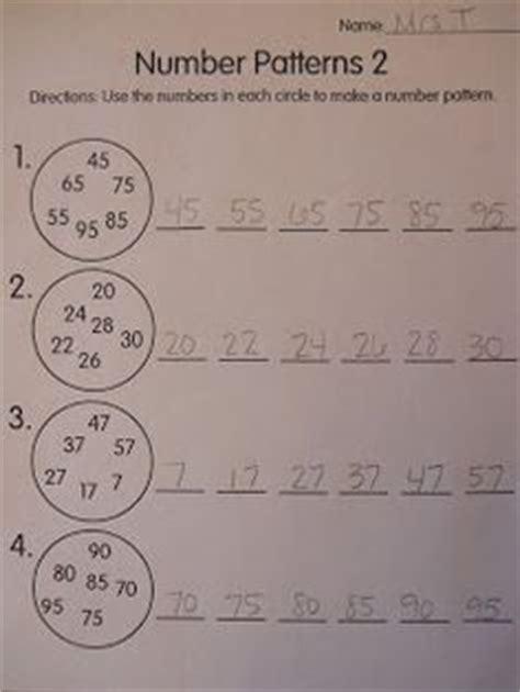 writing pattern rules worksheet writing rules number pattern grade 3 pinterest