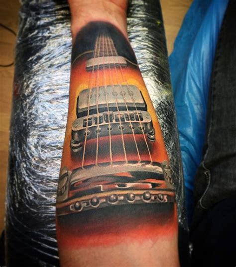 65 guitar tattoos for men acoustic and electric designs