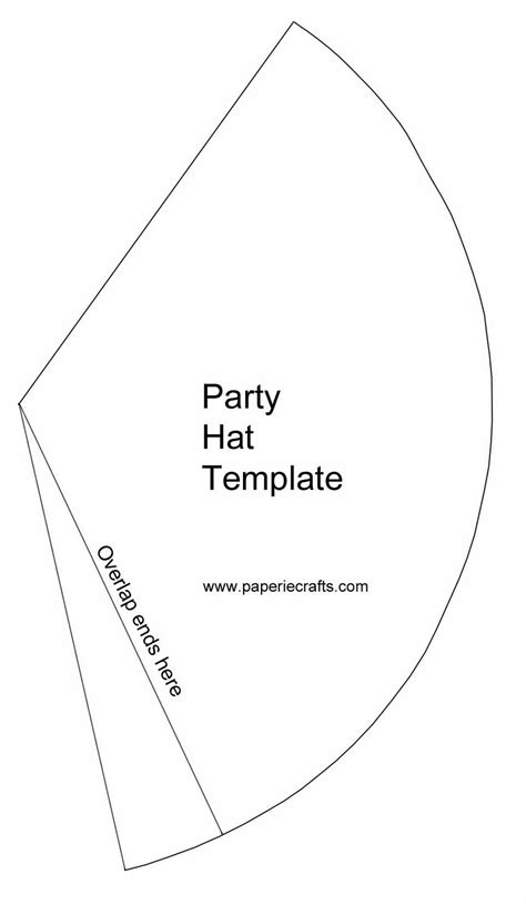 15 Birthday Hat Template Printable Images Party Hat Template Printable Free Printable Martha Stewart Paper Cone Template