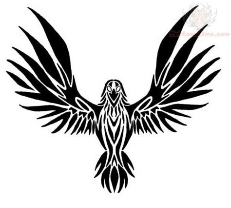 raven tribal tattoo images designs