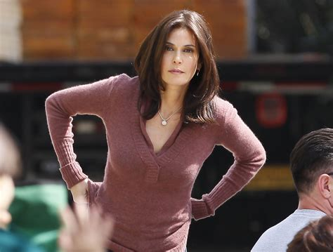 Get Look Teri Hatchers Swarovski Clutch From Clothes Our Back by More Pics Of Teri Hatcher Leather Slip On Shoes 14 Of 17