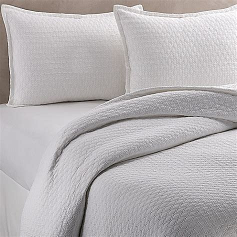 diamond coverlet vera wang puckered diamond matelass 233 coverlet bed bath