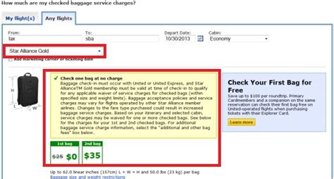 united checked bag fee domestic united airlines reduces star alliance gold checked baggage
