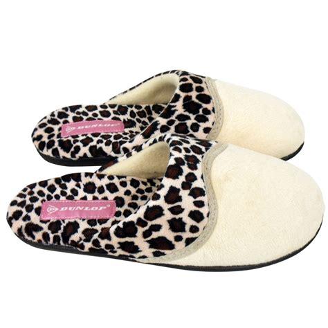 leopard slippers dunlop animal leopard print mule slipper womens