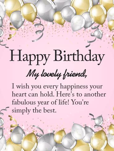 Happy Birthday Wishes For Lovely Friend Birthday Cards For Friends Birthday Greeting Cards By