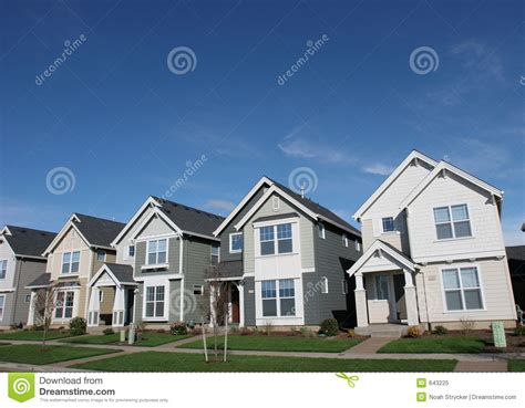 New American House Plans by Suburban Houses Stock Image Image Of House Blue Housing