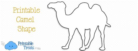 printable camel shape printable treats com