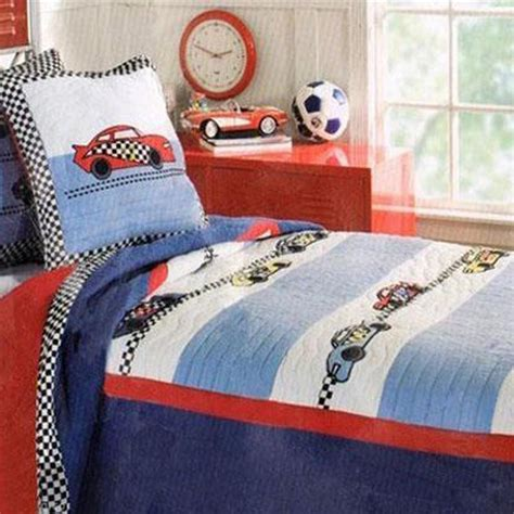 racing bedding boys cars quilt