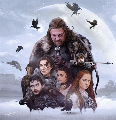 house of stark game of thrones house stark painting by hax09 on deviantart