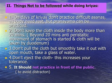 Detox Kriya Practice by Introduction To Cleansing Processes In
