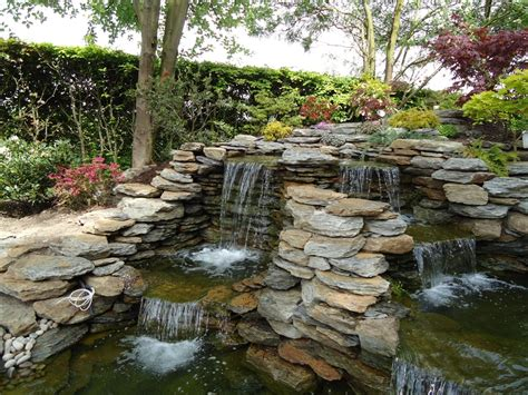 backyard waterfalls ideas backyard waterfalls houses models fascinating garden