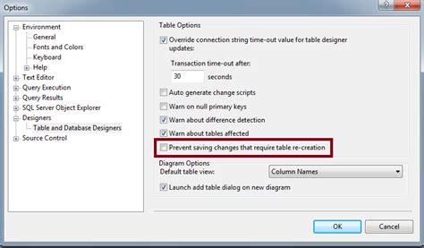 query membuat tabel pada sql server solusi tidak bisa edit design tabel pada sql server