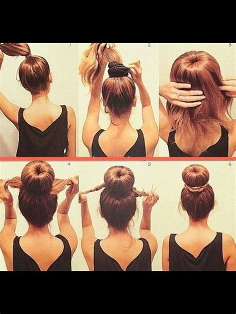 how to diy easy sock bun updo hairstyle with elastic web diy audrey hepburn hair up do hair spiration pinterest