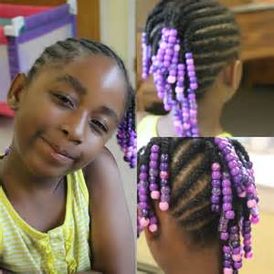 hairby minklittle kids edition side mohawk braids with beads watch me work