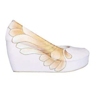 Zr014 Putih Sepatu Sandal Wedges Boots High Heel Flat Shoes Slip On sepatu flat wanita sepatu haihil wedding sepatu cantik