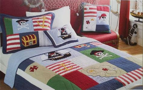 pirate bedding twin twin kids pirate of caribbean cotton quilted coverlet
