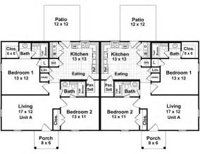 Simple Duplex Floor Plans Simple Small House Floor Plans Traditional Duplex House