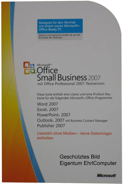 Microsoft Office Small Business by Microsoft Office Small Business 2007 Product Key