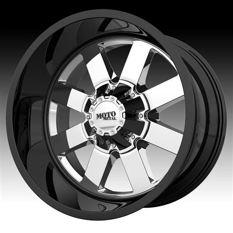 motto wheels moto metal mo962 chrome pvd gloss black chrome custom
