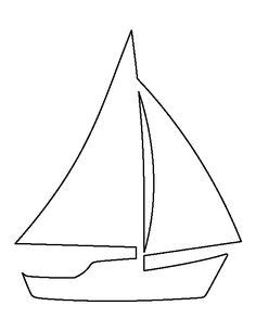 simple boat template palm tree pattern use the printable outline for crafts