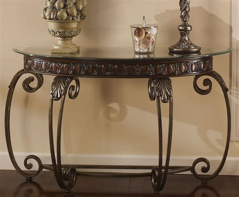 glass and metal sofa table metal console table console tables amazing metal console