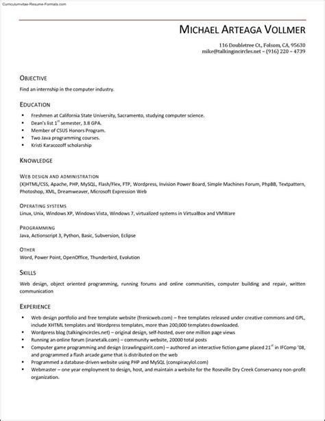 microsoft office 2003 resume templates free sles