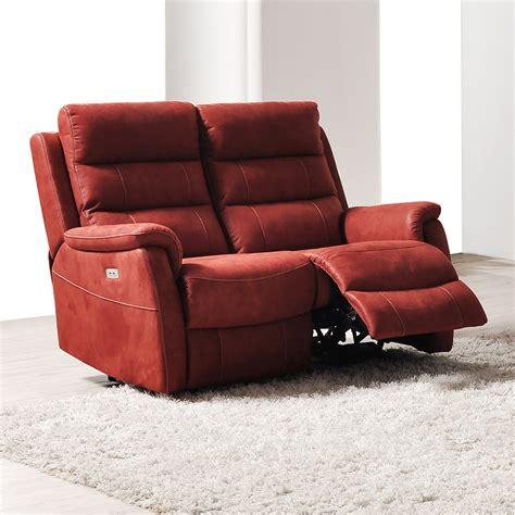 canapé relax electrique 2 places canape relax lectrique 2 places en tissu sofamobili