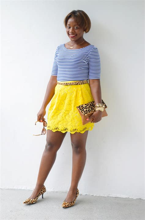 Striped And Floral Skirt stripes and floral print mix